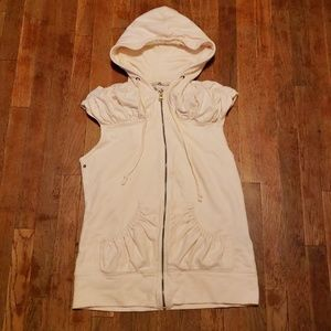 Mike & Chris women's vest with hood.